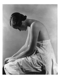 Vogue - August 1934 - Woman Bending Forward Photographic Print by Lusha Nelson