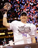 Eli Manning with the Vince Lombardi Trophy Super Bowl XLVI Photo
