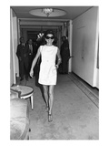 WWD - September 1970 - Jackie Onassis Wearing a Minidress Regular Photographic Print by Nick Machalaba