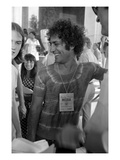 W - July 1972 - Democratic National Convention Miami Premium Photographic Print by Eli Silverberg