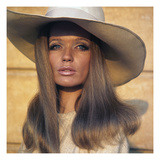 Vogue - April 1969 - Veruschka in Broad-Brimmed Hat Regular Photographic Print by Franco Rubartelli