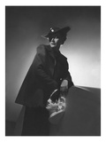Vogue - March 1936 - Woman in Shadows Leaning on a Bust Photographic Print by Horst P. Horst