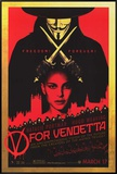 V for Vendetta Framed Canvas Print