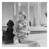Vogue - March 1951 - C.Z. Guest at the Villa Artemis Regular Photographic Print by Cecil Beaton