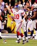 Eli Manning Celebrates his Touchdown Pass Super Bowl XLVI Fotografía