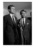 WWD - September 1966 - Kennedy Press Conference Premium Photographic Print by Morton Cornel & Jim Marconi