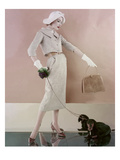 Vogue - February 1957 Regular Photographic Print by Karen Radkai