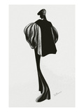 Vogue - December 1934 - Molyneux Cape Giclee Print by Raymond de Lavererie