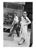 WWD - December 1970 - Jackie Onassis on the Street Photographic Print by Sal Traina