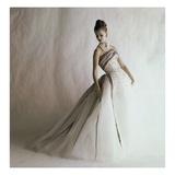 Vogue - June 1960 - Balmain Ball Gown Regular Photographic Print by Jerry Schatzberg