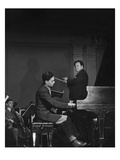 Vogue - May 1945 - Leon Fleisher Playing with Pierre Monteux Photographic Print by Serge Balkin