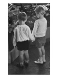 Vogue - November 1934 - Little Boys Holding Hands Photographic Print by Remie Lohse