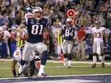 New York Giants and New England Patriots - Super Bowl XLVI - February 5, 2012: Aaron Hernandez Photographic Print by Marcio Jose Sanchez