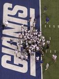New York Giants og New England Patriots, Super Bowl XLVI, 5. februar 2012: New York Giants, spillere Fotografisk trykk av David J. Phillip