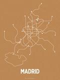 Madrid (Orange & Pearl White) Siebdruck von  LinePosters