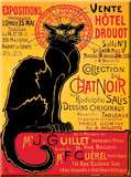 Chat Noir Drouot Cartel de chapa