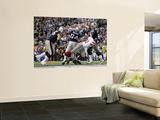 New York Giants and New England Patriots - Super Bowl XLVI - February 5, 2012: Tom Brady Wall Mural by Ben Liebenberg