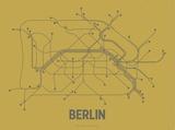 LinePosters - Berlin (Ochre & Gunmetal Gray) - Serigrafi
