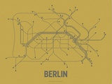 Berlin (Ochre &amp; Gunmetal Gray) Serigraph by  Line Posters