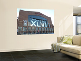 New York Giants and New England Patriots - Super Bowl XLVI - February 5, 2012: Lucas Oil Stadium Poster by Ben Liebenberg