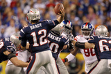New York Giants and New England Patriots - Super Bowl XLVI - February 5, 2012: Tom Brady Photographic Print by Jeff Roberson