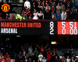 Manchester United-8 Goals Scoreboard Photo