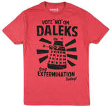 Dr. Who - Vote No On Daleks Tshirts