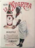 Rum la Negrita Targa di latta