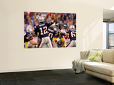 New York Giants and New England Patriots - Super Bowl XLVI - February 5, 2012: Tom Brady Wall Mural by Jeff Roberson