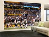 New York Giants and New England Patriots - Super Bowl XLVI - February 5, 2012: Tom Brady Veggmaleri – stort av Paul Sancya