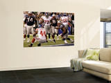 New York Giants and New England Patriots - Super Bowl XLVI - February 5, 2012: Ahmad Bradshaw Wall Mural by Marcio Jose Sanchez