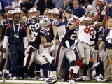New York Giants and New England Patriots - Super Bowl XLVI - February 5, 2012: Mario Manningham Photographic Print by Marcio Jose Sanchez
