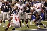 New York Giants and New England Patriots - Super Bowl XLVI - February 5, 2012: Ahmad Bradshaw Fotografisk trykk av Marcio Jose Sanchez