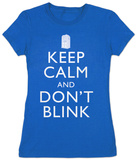 Juniors: Dr. Who - Keep Calm and Dont Blink T-Shirt