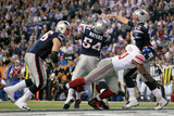 New York Giants and New England Patriots - Super Bowl XLVI - February 5, 2012: Tom Brady Photographic Print by Ben Liebenberg