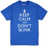 Dr. Who - Keep Calm and Don't Blink T-shirts