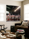 New York Giants and New England Patriots - Super Bowl XLVI - February 5, 2012: Giants Huddle Prints by Marcio Jose Sanchez