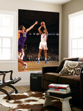 New York Knicks v Los Angeles Lakers, New York, NY, Feb 10: Landry Fields, Pau Gasol Wall Mural