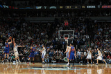 New York Knicks v Minneapolis Timberwolves, Minneapolis, MN, Feb 11: Steve Novak, Kevin Love Photographic Print by David Sherman