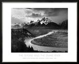 Tetons y el río Snake, Parque nacional de Gran Teton, c.1942 Posters por Ansel Adams