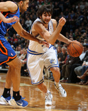 New York Knicks v Minneapolis Timberwolves, Minneapolis, MN, Feb 11: Ricky Rubio, Landry Fields Photographic Print by David Sherman