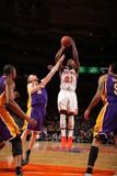 New York Knicks v Los Angeles Lakers, New York, NY, Feb 10: Iman Shumpert, Steve Blake Photographic Print