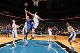 New York Knicks v Minneapolis Timberwolves, Minneapolis, MN, Feb 11: Jeremy Lin, Nikola Pekovic Photographic Print by David Sherman