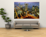 The Frankfurt, Germany, Skyline is Seen at Sunset Posters