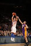 New York Knicks v Los Angeles Lakers, New York, NY, Feb 10: Jeremy Lin, Steve Blake Photographic Print