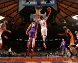 New York Knicks v Los Angeles Lakers, New York, NY, Feb 10: Jeremy Lin, Pau Gasol Photographic Print by Nathaniel S. Butler