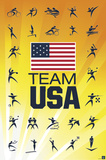 London 2012 Olympics - Team USA Poster