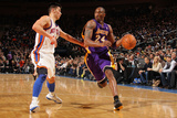 New York Knicks v Los Angeles Lakers, New York, NY, Feb 10: Kobe Bryant, Jeremy Lin Photographic Print by Nathaniel S. Butler