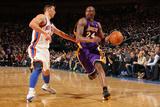New York Knicks v Los Angeles Lakers, New York, NY, Feb 10: Kobe Bryant, Jeremy Lin Photographic Print by Nathaniel S. Butler