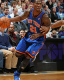 New York Knicks v Minneapolis Timberwolves, Minneapolis, MN, Feb 11: Iman Shumpert Photographic Print by David Sherman